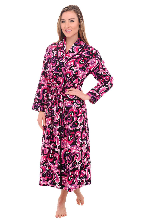 Del Rossa Women's 100% Cotton Lightweight Bathrobe Robe