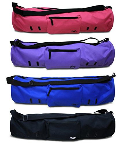 YogaAddict-Large-Yoga-Mat-Bag-Compact-With-Pockets-28-Long-Fit-Most-Mat-Size-Extra-Wide-Adjustable-Strap-Easy-Access-0-440x500