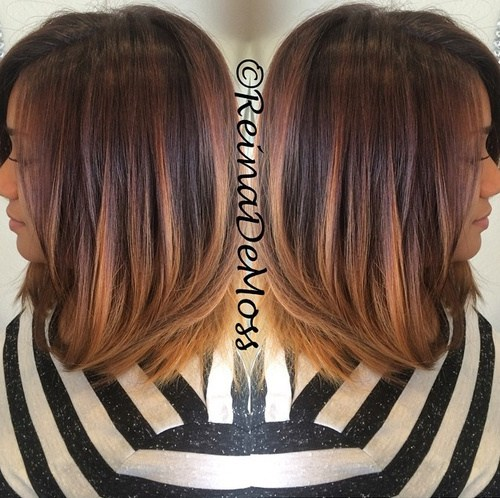 Amazing medium ombre hairstyle for women