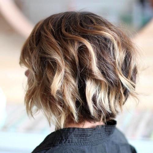 choppy balayage bob hairstyle for short hair 2017