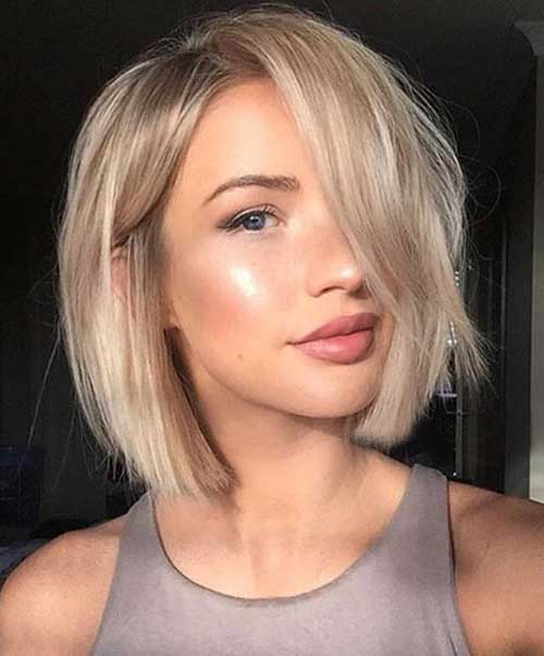 cute short blonde bob hairstyle for girls