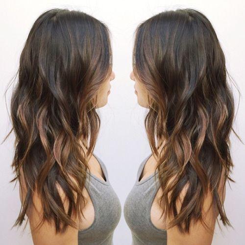 Asian Balayage hairstyle for long hair