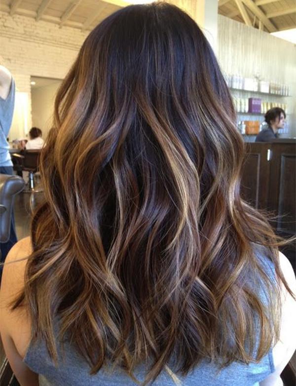 balayage dark brown hair