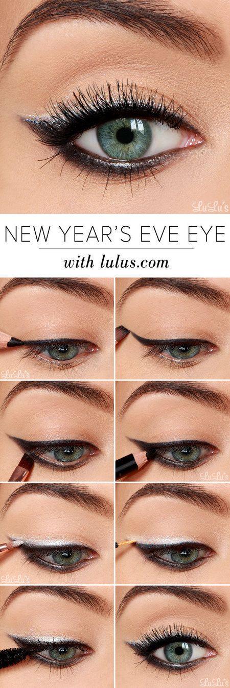 Step by step New Years Eve eye makeup tutorial How to Rock New Year's Eve Eye Makeup 2021