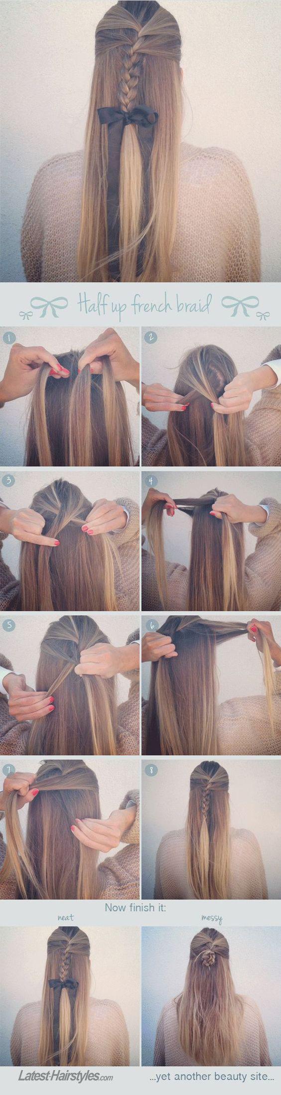 Easy Step by step hair tutorials for long hair