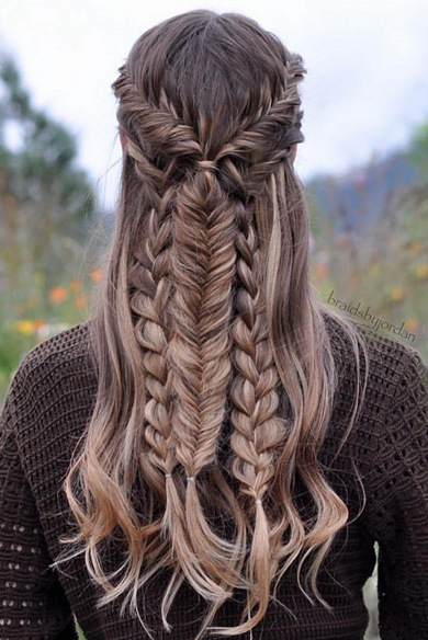 long hairstyle with braid