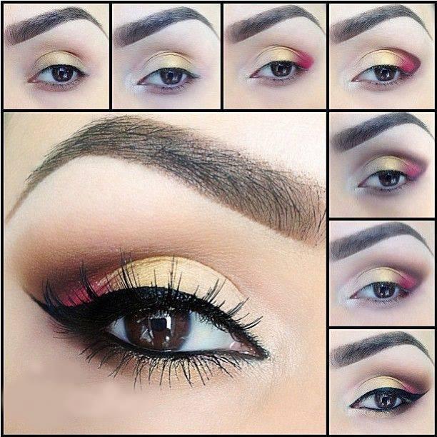 Step By Step eyeshadow tutorials for brown eyes