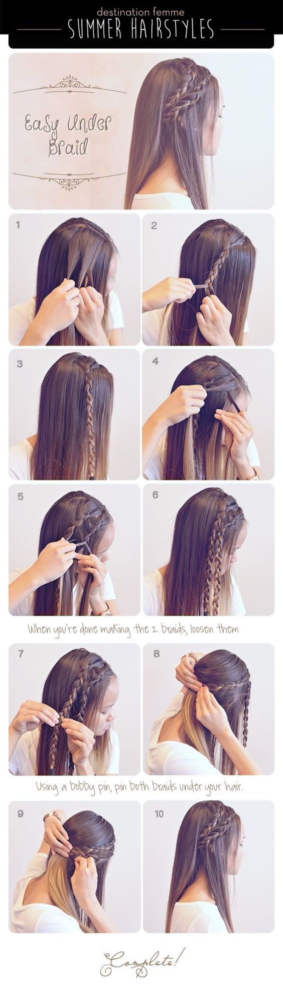 Step by Step Hair Tutorials for School