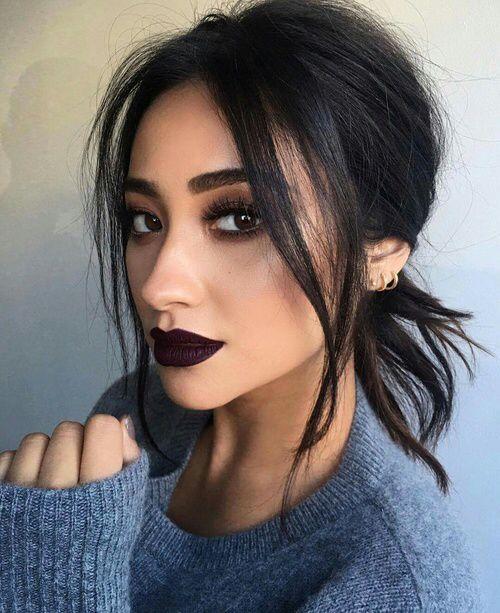 dark lipstick makeup looks