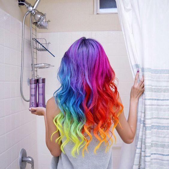 How To Pull Off Colorful Hair At Home