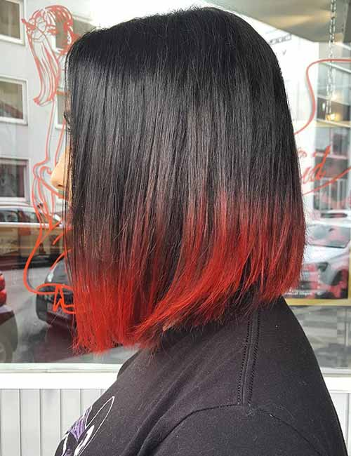 10. Red Edged Ombre
