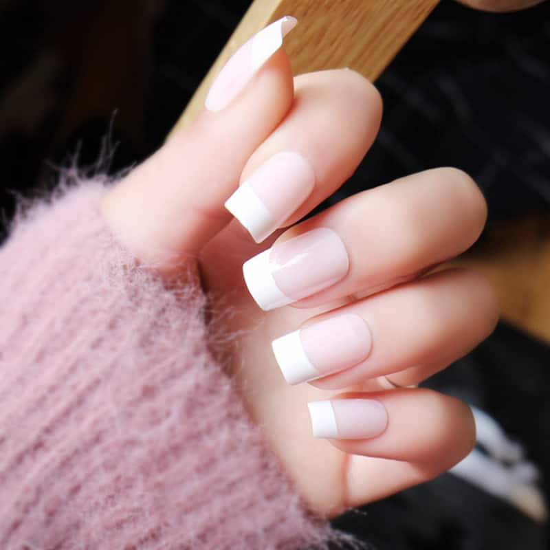 French Square Acrylic Nails