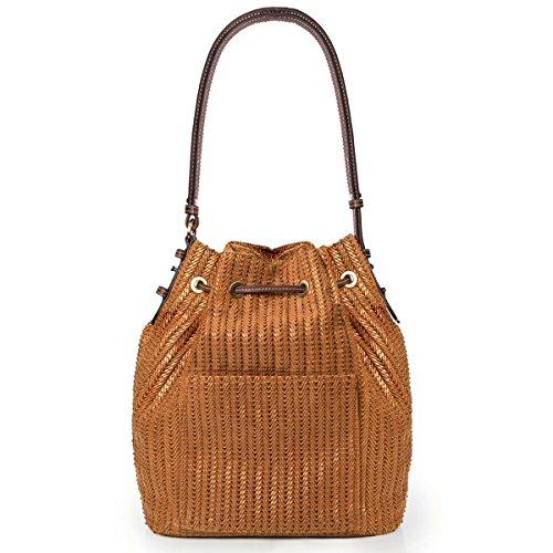 Eric Javits Luxury Fashion Designer Women's Handbag - Ami - Honey