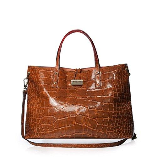 Eric Javits Luxury Fashion Designer Women's Handbag - Cheri - Burnt