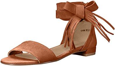 Stuart Weitzman Women's Corbata Flat Sandal, Saddle, 11 M US