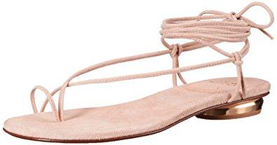 Stuart Weitzman Women's Nieta Flat Sandal, Bisque, 5 M US