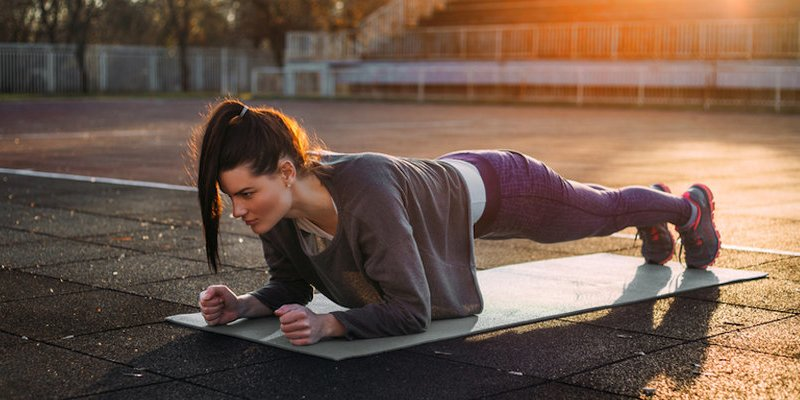 Image result for woman doing planks