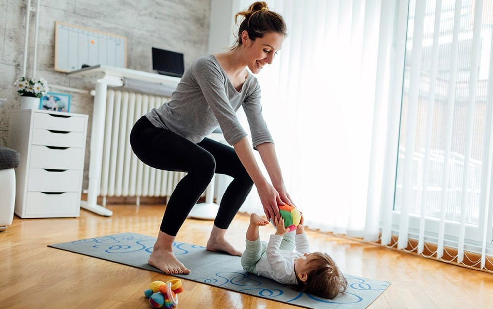 Image result for working out as a mom at home