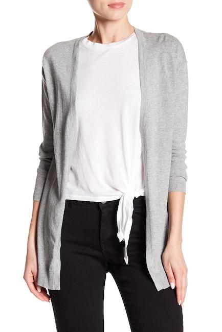 Image of Cotton Emporium A-Line Long Sleeve Cardigan