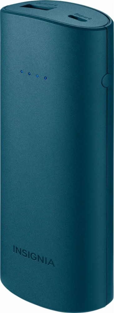 Insignia™ - 5,200 mAh Portable Charger for Most USB-Enabled Devices - Blue - Front_Zoom