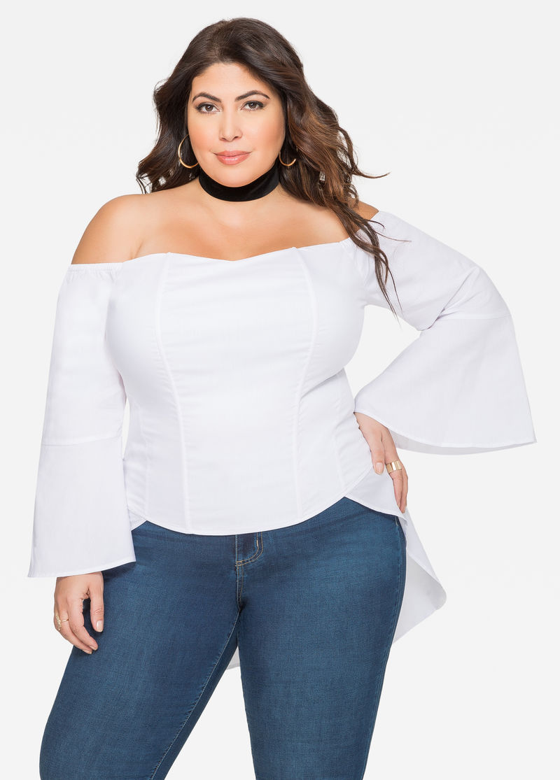 Image result for off the shoulder tops plus size