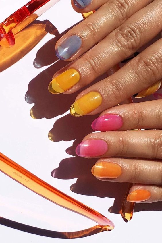 Here's How to Wear the Jelly Nail Trend in the Cutest Way #jellynails #nail #beauty #tips