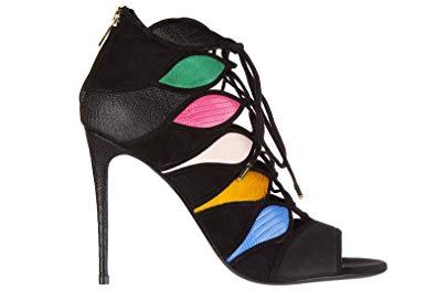 Salvatore Ferragamo Women's Leather Heel Sandals Felicity Black US Size 4.5 01L472 644757