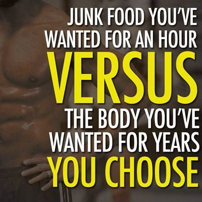 The body you want > the junk food you crave.: