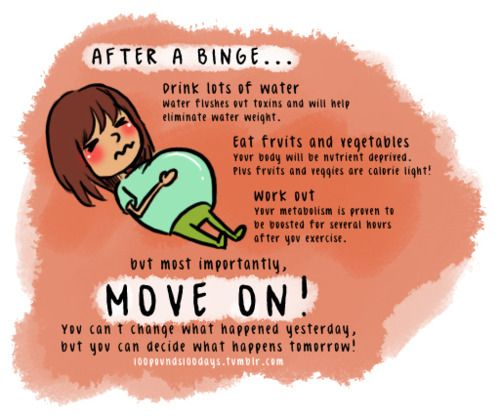 """this is so important. everybody has those """"cheat"""" days and they can make you feel awful. keep going and move on!:"""