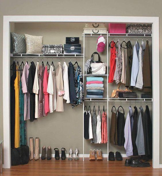 #closet #organizer #clothes #storage #shelves #system #kit #shelf #wardrobe #hanger
