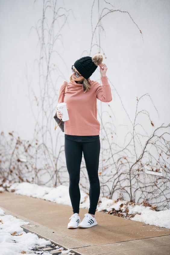 Athleisure + Thoughts On Having Another Baby | casual style | casual outfit idea | mom style | mom life | pregnancy | baby fever | fitness inspo | madewell sweatshirt | zella leggings | adidas | louis vuitton