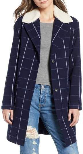 Levi's Wool High-Pile Fleece Collar Top Coat