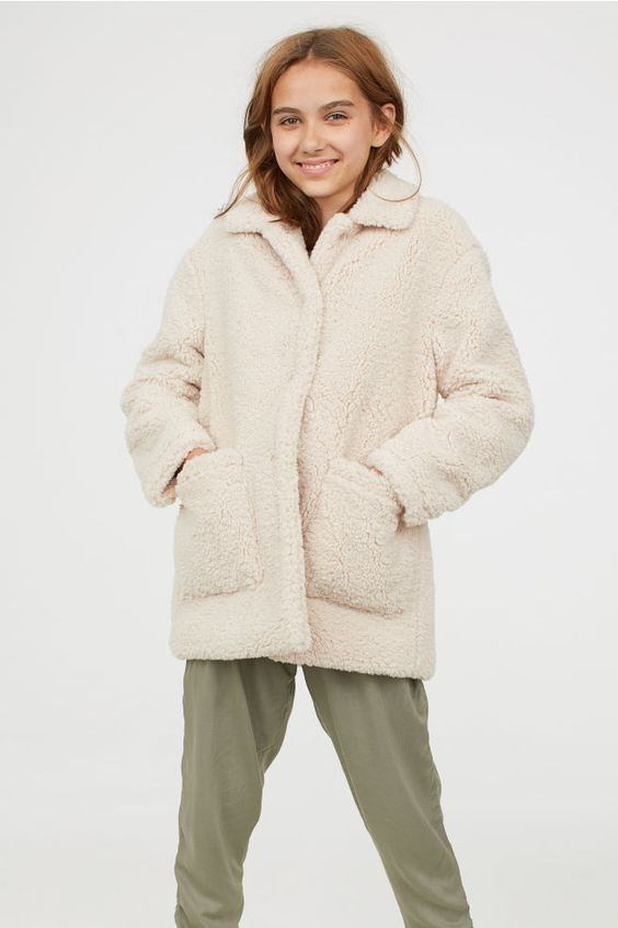 Pile Coat - Light beige - Kids | H&M US 3