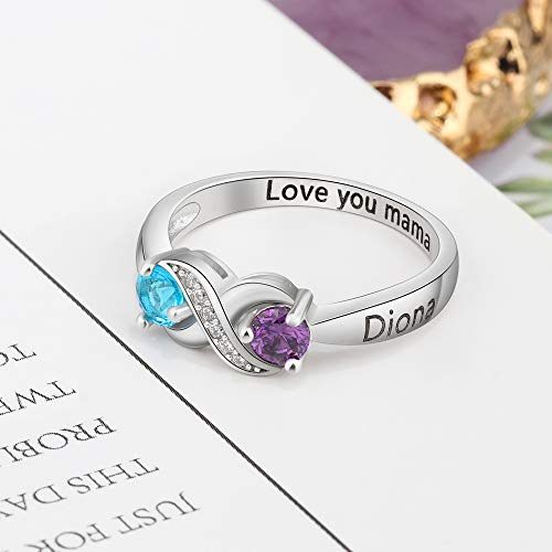 Love Jewelry 925 Sterling Silver Personalized Infinity Mothers ...