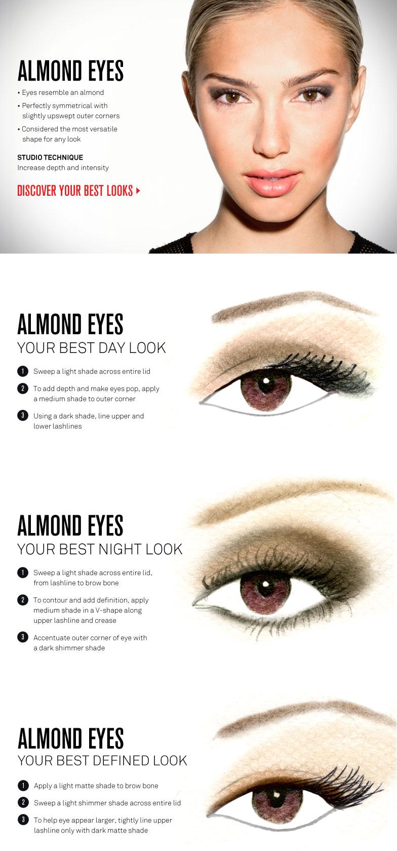 Eye Makeup for Almond Eyes, by Smashbox … | Eye shape makeup ...