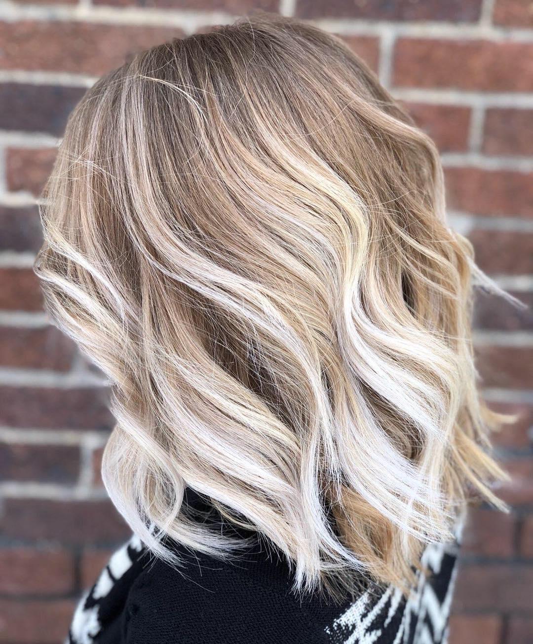 medium hairstyle with balayage