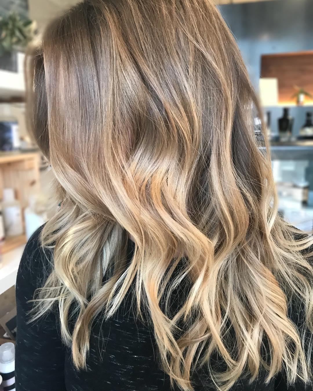 balayage hairstyles with soft waves