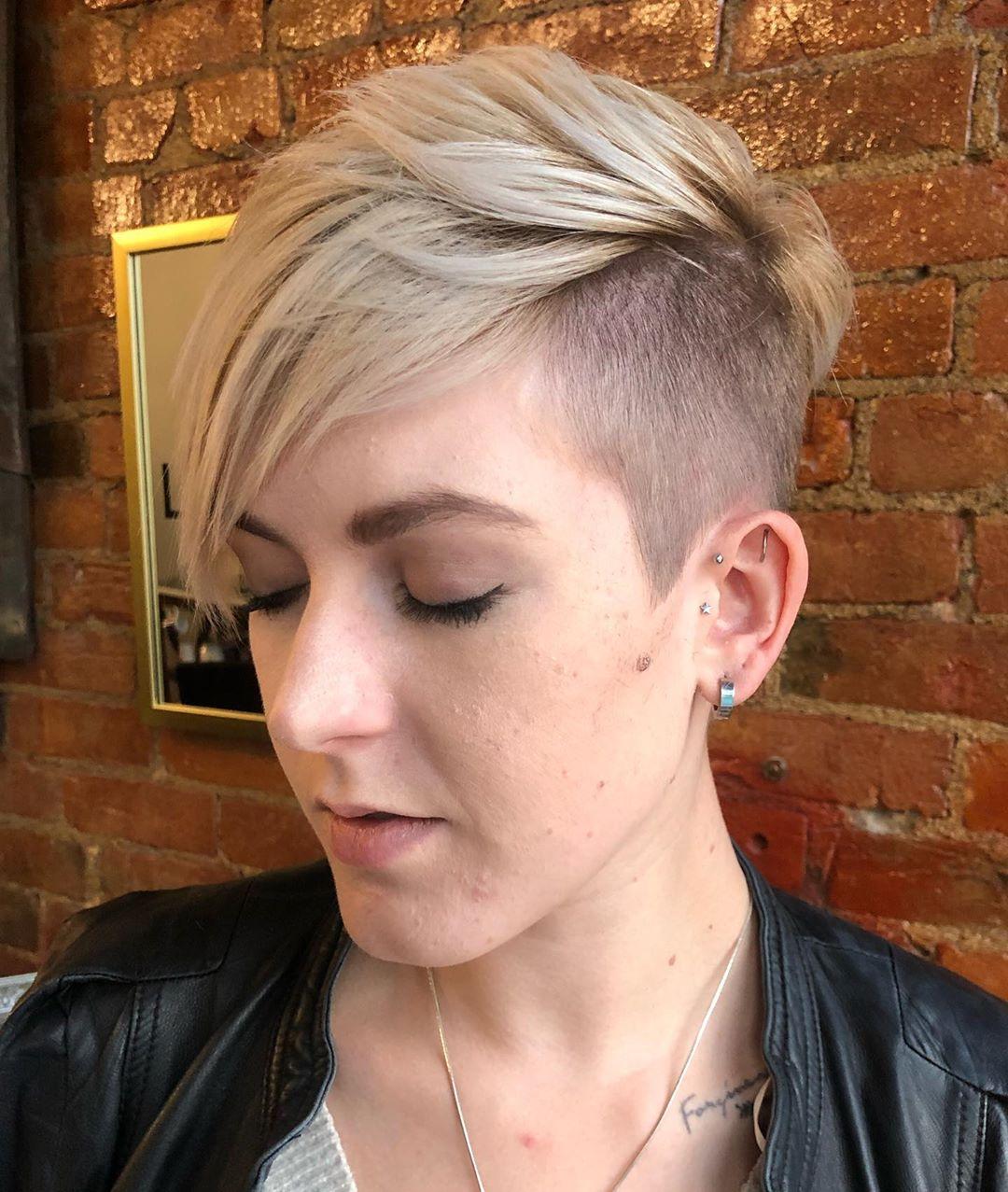 Short back & sides blonde haircut