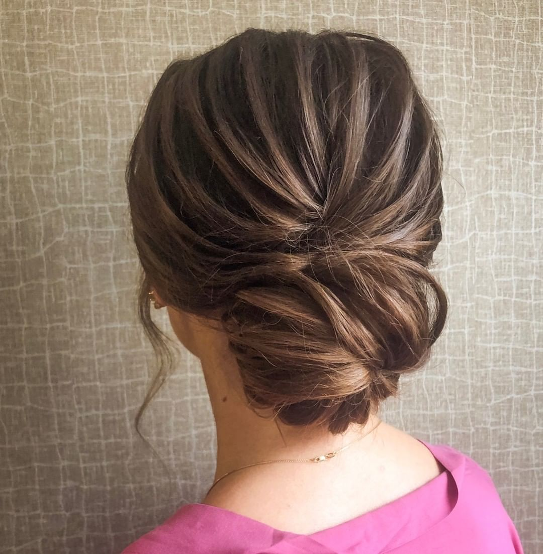 twisted updo for summer
