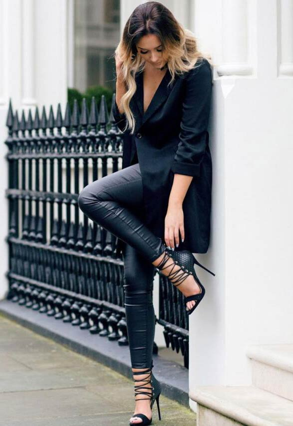 Blazer Combo With Fitted Leggings