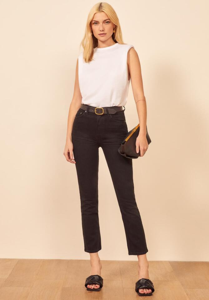 Fitted Button-up with Straight-Leg Cropped Pants for women