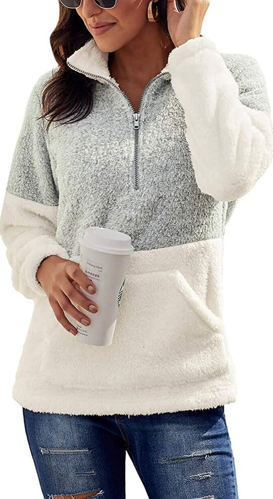 Oversized Fleece Sweater with Comfy Jeans