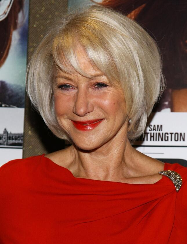 Helen Mirren Bob Hairstyle for Women Over 60