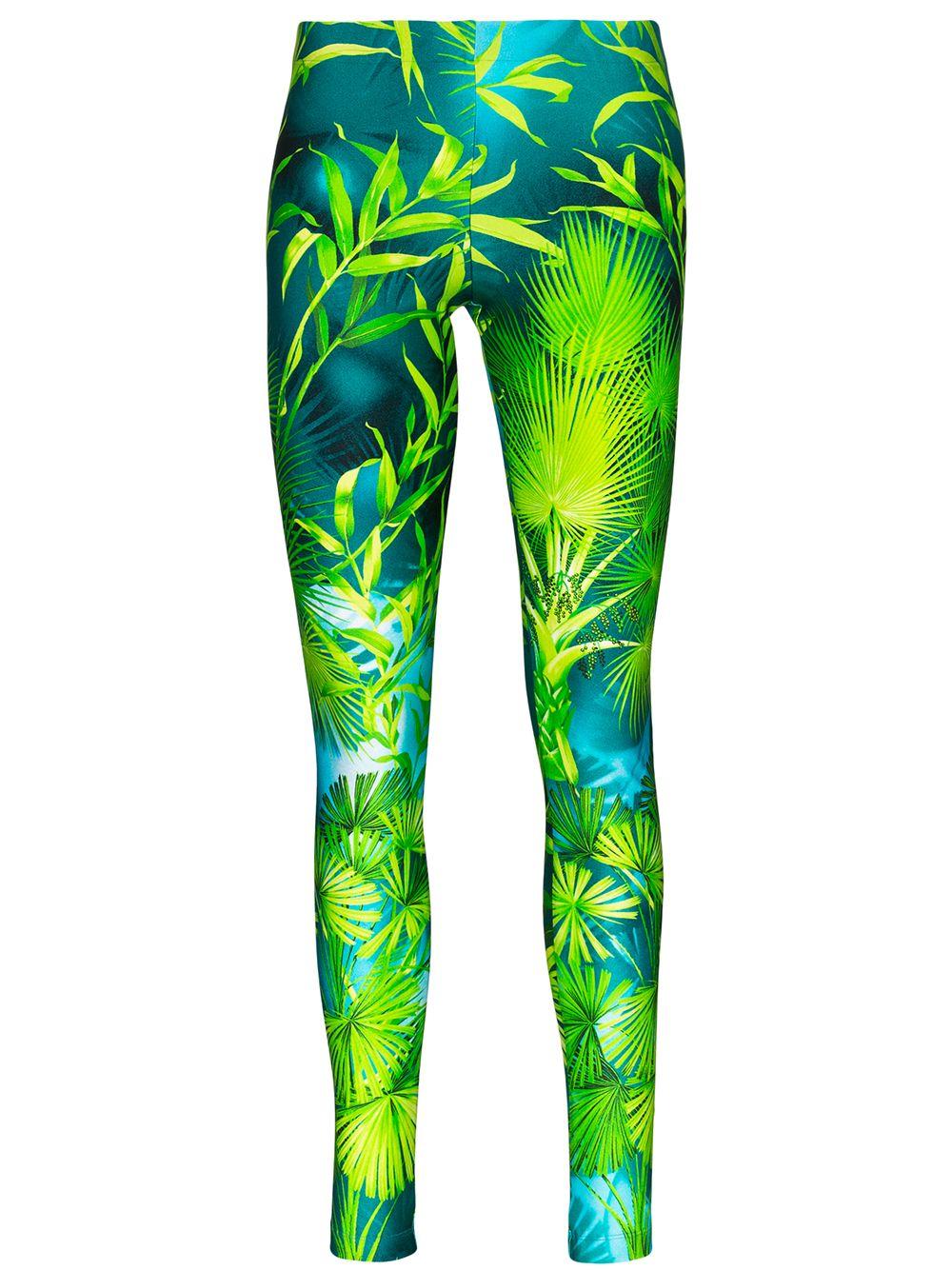 Image 1 of Versace palm-print leggings
