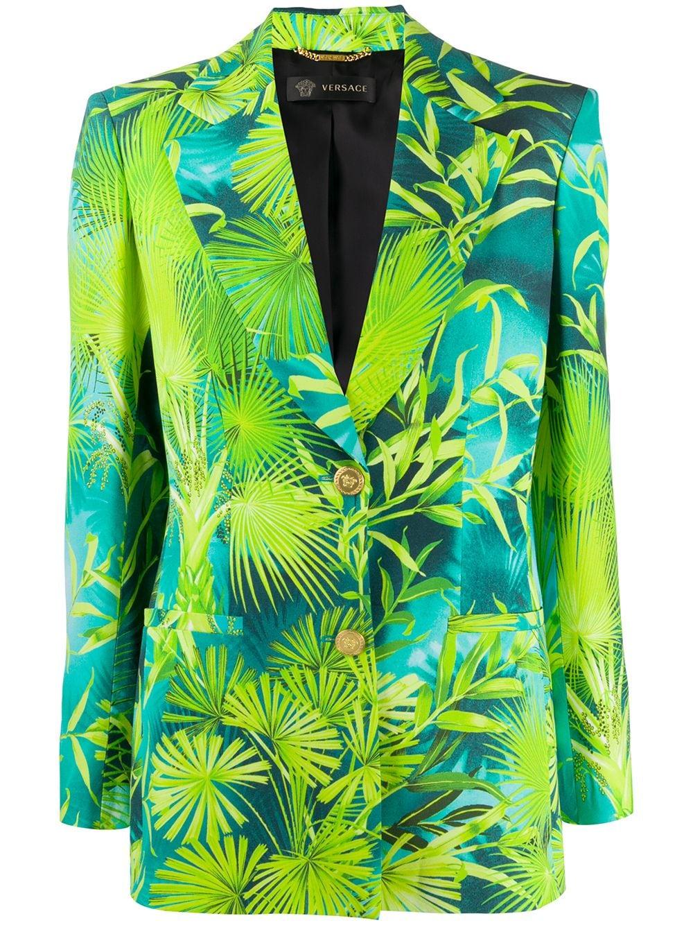 Image 1 of Versace Jungle print single-breasted blazer