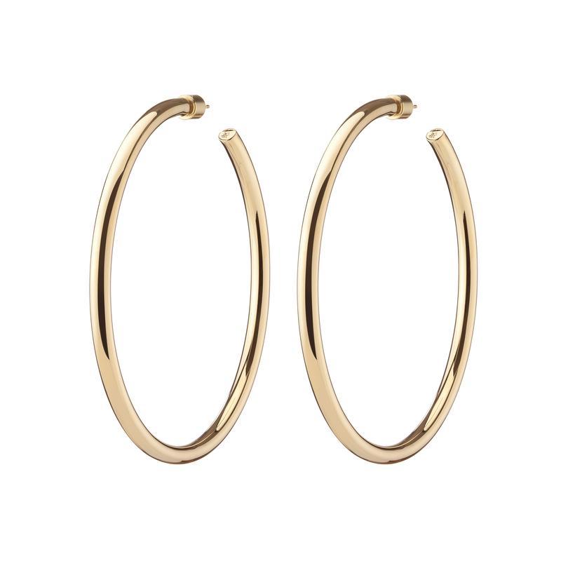 Brass Hoops | Lilly Hoops – Jennifer Fisher