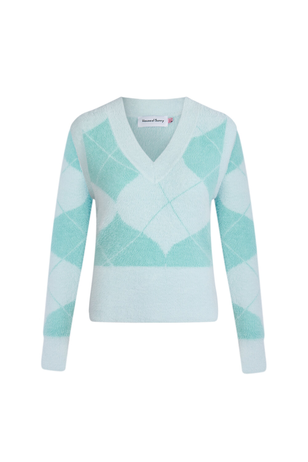 House of Sunny Diamond Knit With Detachable Sleeves