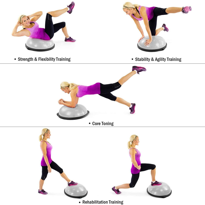 10 best bosu balls – exercise for weight loss muscle toning herstylecode 7 10 Best Bosu Balls (Balance Trainer) 2021 – Exercise for Weight Loss and Muscle Toning