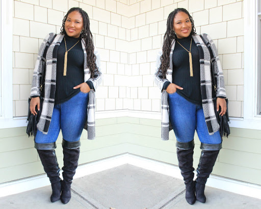 How to Style Plus Size Knee High Boots- A Thick Girl's Closet