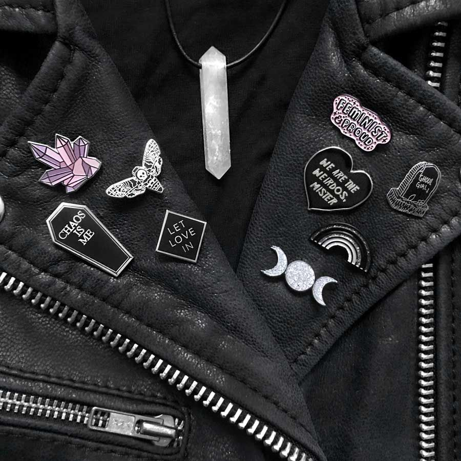 Crystal Cluster Enamel Pin by Punky Pins — Hellaholics